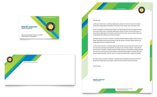 Tennis Club & Camp Business Card & Letterhead Template