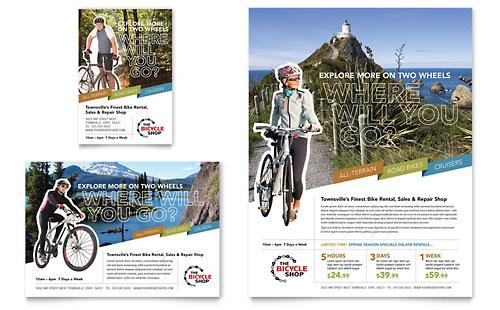 Bike Rentals & Mountain Biking - Flyer & Ad Template