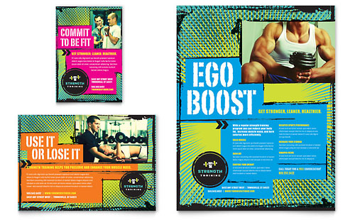 Strength Training Flyer & Ad Template