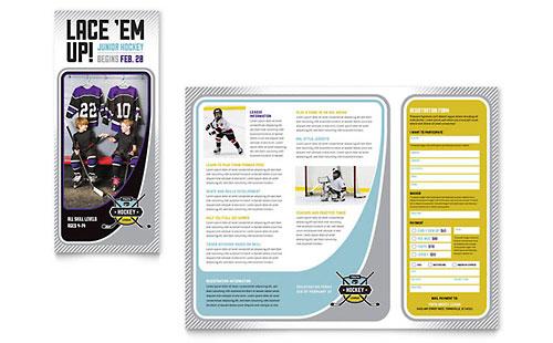 Junior Hockey Camp Brochure Template