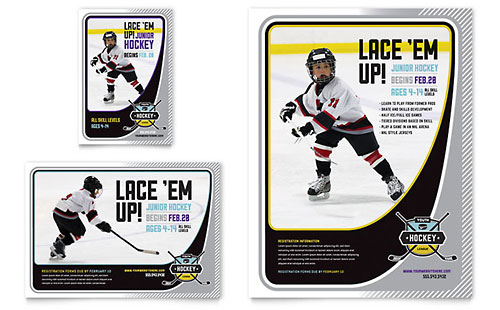 Junior Hockey Camp Flyer & Ad Template