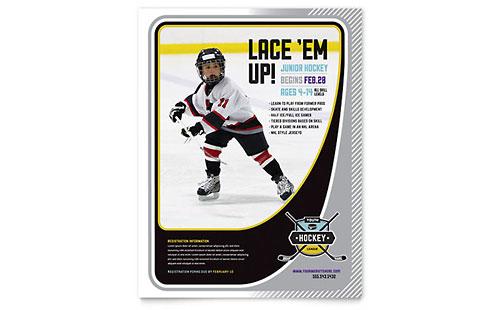 Junior Hockey Camp - Flyer Template