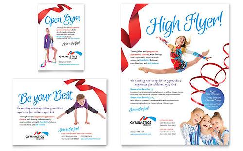 Gymnastics Academy Flyer & Ad Template