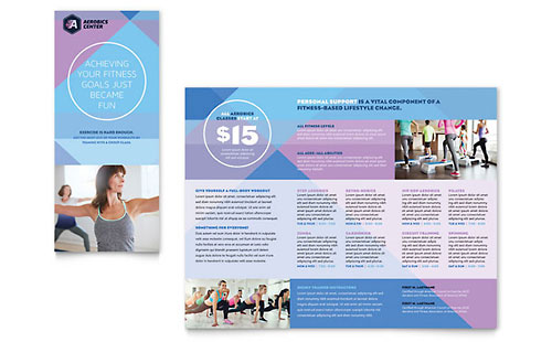 Aerobics Center Pages Brochure Template