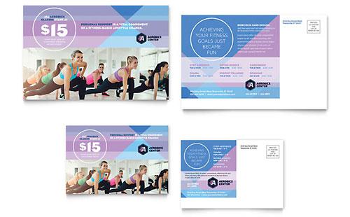Aerobics Center - Postcard Sample Template