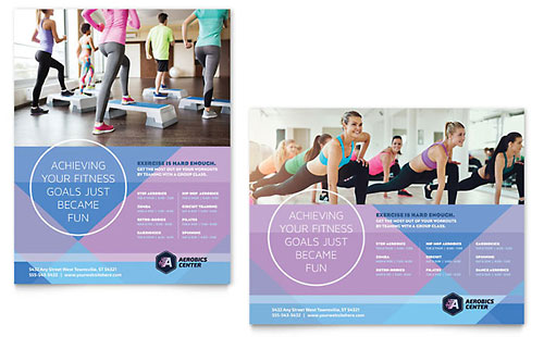 Aerobics Center Poster Template
