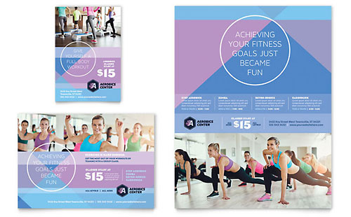 Aerobics Center Flyer & Ad Template