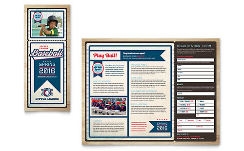 Baseball League InDesign Brochure Template