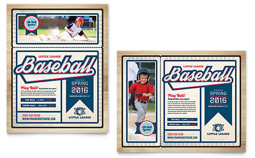 Baseball League Poster Template