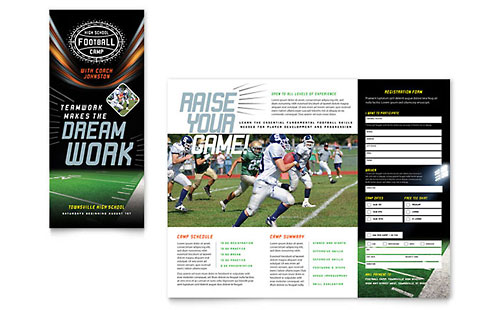 Football Training Print Design Brochure Template