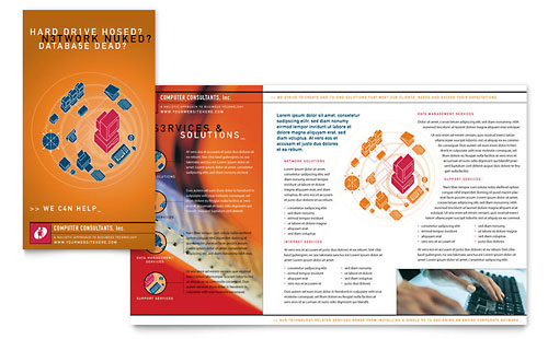 Computer Consulting Brochure Template