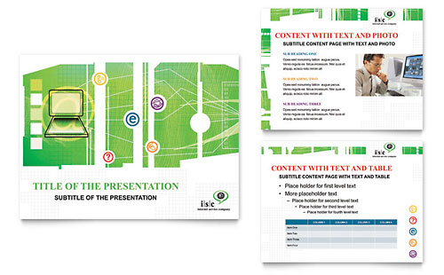 ISP Internet Service PowerPoint Presentation Template