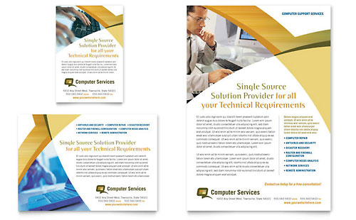 Computer Services & Consulting Flyer & Ad Template