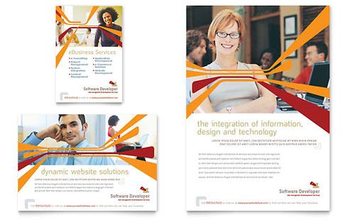Software Developer Flyer & Ad Template