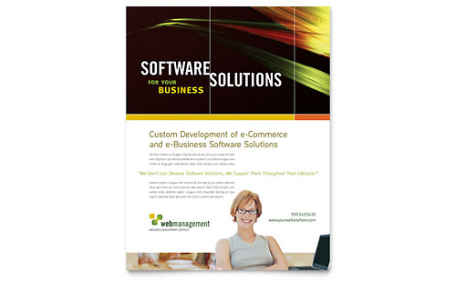 Internet Software Flyer Template