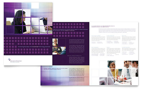 Information Technology Consultants Brochure Template