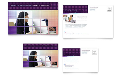 Information Technology Consultants Postcard Template