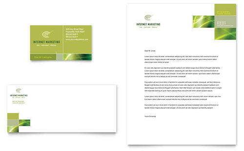 Internet Marketing Business Card & Letterhead Template