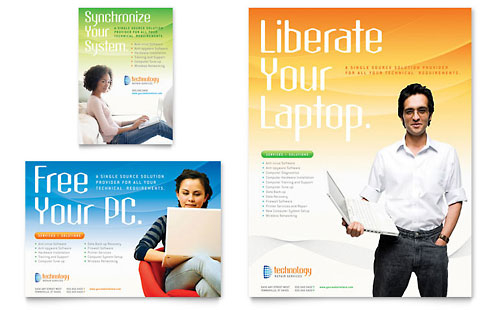 Computer & IT Services Flyer & Ad Template