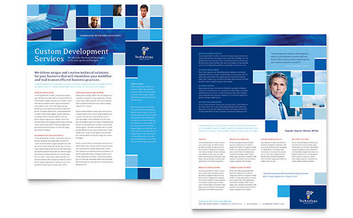 Technology Consulting & IT Datasheet Template