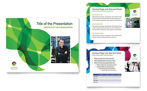 Network Administration Presentation Template - PowerPoint