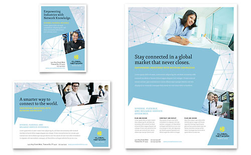 Global Network Services Flyer & Ad Template