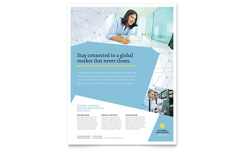 Global Network Services Flyer Template