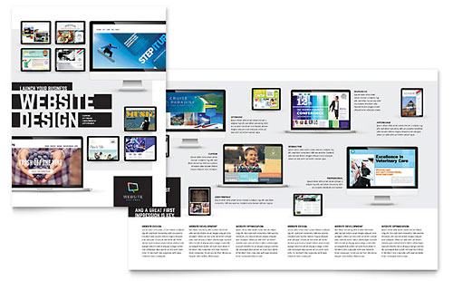 Website Designer Brochure Template