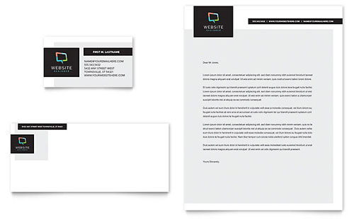 Website Designer Business Card & Letterhead Template