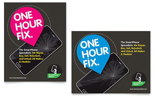 Smartphone Repair Poster Template