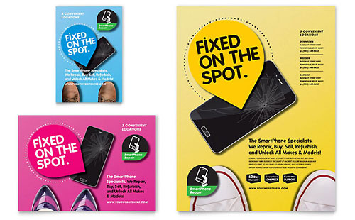 Smartphone Repair Flyer & Ad Template