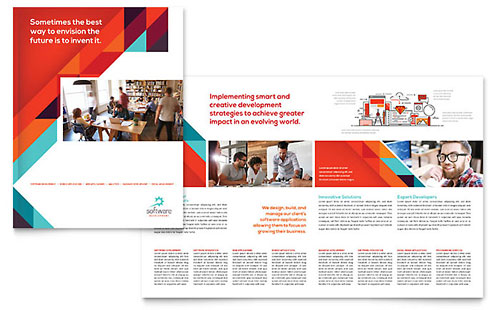 Application Software Developer - Adobe InDesign Brochure Template
