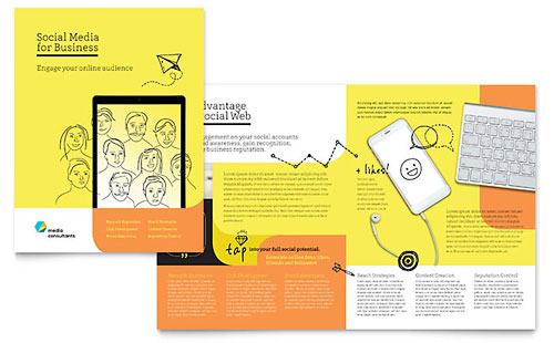 Social Media Consultant - Microsoft Publisher Brochure Template