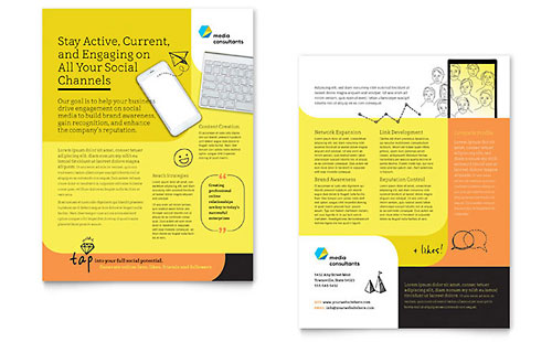 Social Media Consultant Sales Sheet Template