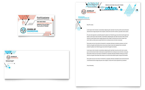 Computer Engineering Business Card & Letterhead Template