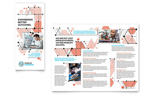 Computer Engineering Tri Fold Brochure Template