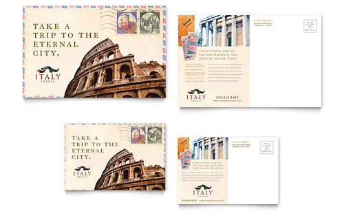 Italy Travel Postcard Template