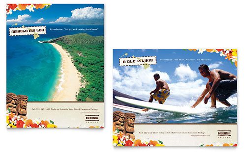 Hawaii Travel Vacation Poster Template