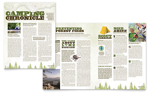 Nature Camping & Hiking Newsletter Template