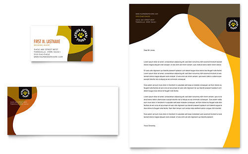 African Safari - Business Card & Letterhead Template
