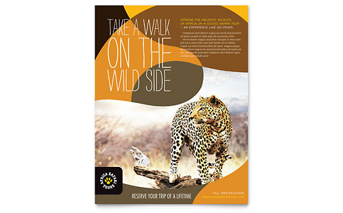 African Safari Flyer Template