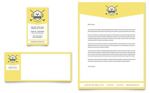 Golf Resort Business Card & Letterhead Template