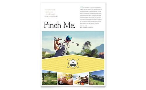Golf Resort Flyer Template