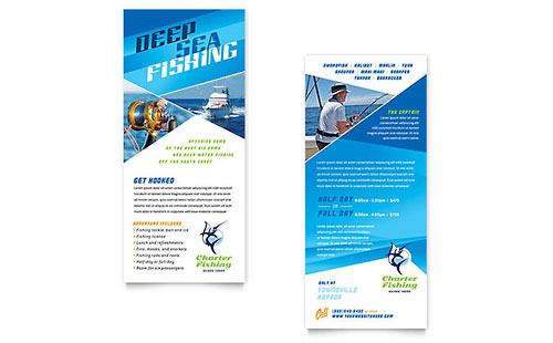 Fishing Charter & Guide - Rack Card Template