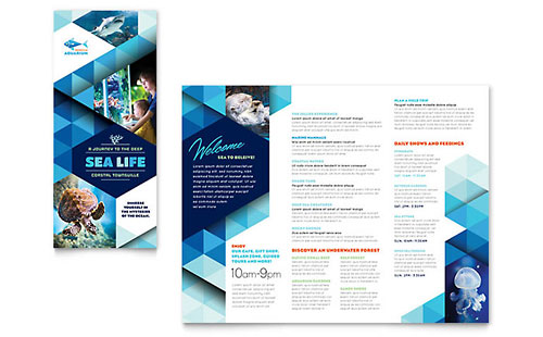 Ocean Aquarium Brochure Template