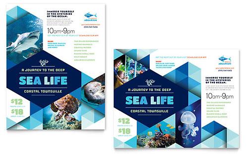 Ocean Aquarium Poster Template