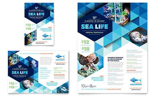 Ocean Aquarium Flyer & Ad Template