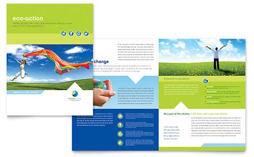 Green Living & Recycling Brochure Template