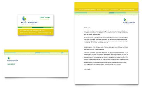Environmental Conservation Business Card & Letterhead Template