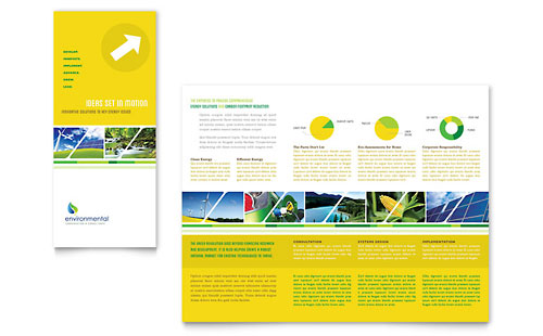 Environmental Conservation Tri Fold Brochure Template